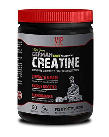 Increase Stamina - German CREATINE Powder - MICRONIZED CREATINE MONOHYDRATE CREAPURE 300G 60 Servings - Creatine Powder