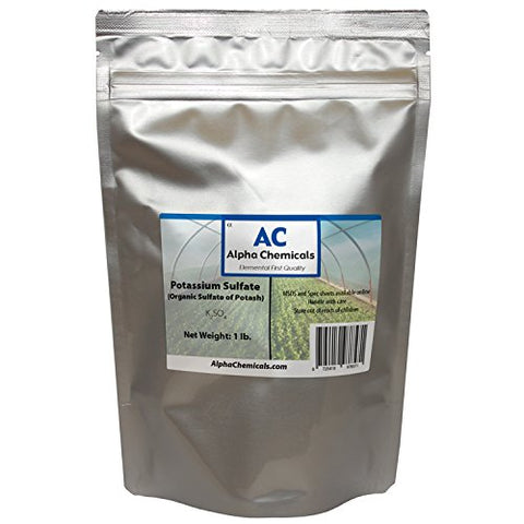 1 Pound - Potassium Sulfate - Sulfate of Potash