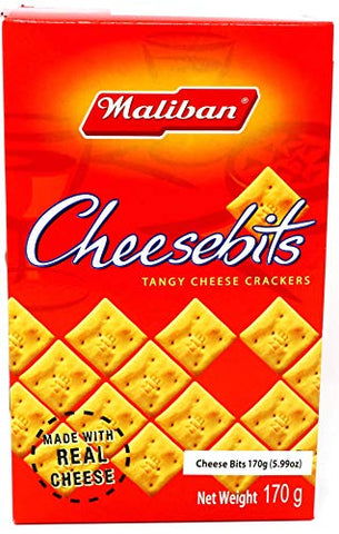 Maliban Cheesbits Tangy Cheese Crackers 170g