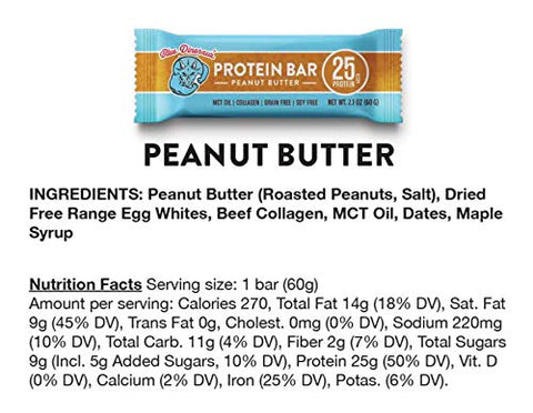 Peanut Butter Protein Bar, 25g Protein, 2.1 oz ea. (3 Pack)