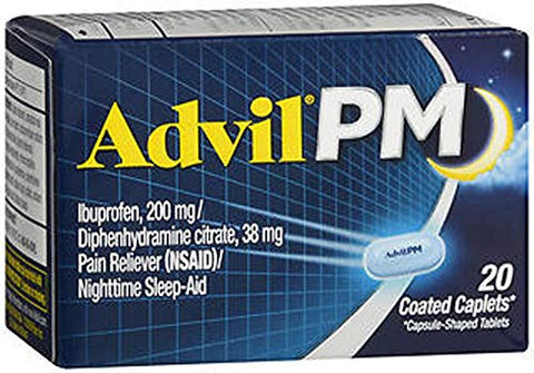 Advil PM Pain Reliever/Nighttime Sleep-Aid, 200mg