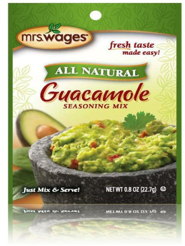 Mrs Wages Guacamole Mix 6- 0.8 Ounce Packages