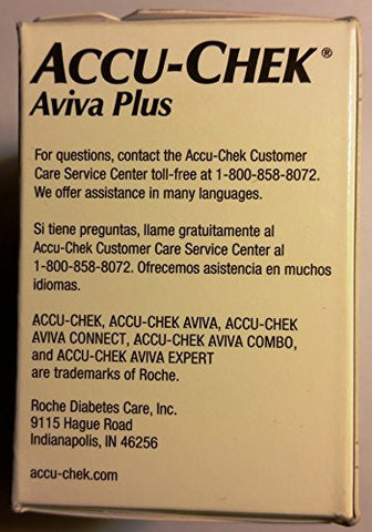 ACCU-CHEK Aviva Test Plus Strips, 100 Count