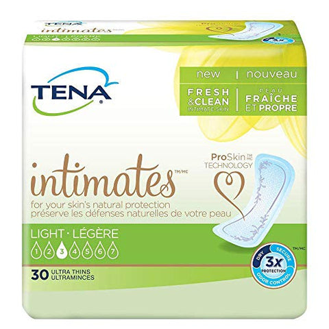 TENA Intimates Light Ultra Thin Pads Regular Pack of 30