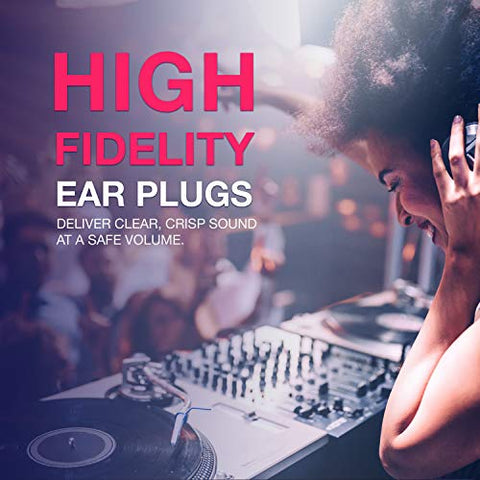 EarPeace HD Concert Ear Plugs - High Fidelity Hearing Protection for Music Festivals, DJs & Musicians (Small, Black Case)