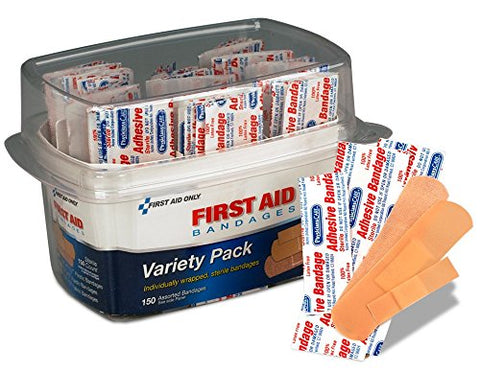 PhysiciansCare by First Aid Only First Aid Bandages, Assorted, 150 Pieces