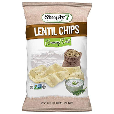 Simply 7 Creamy Dill Lentil Chips, 4 Ounce -- 6 per case.