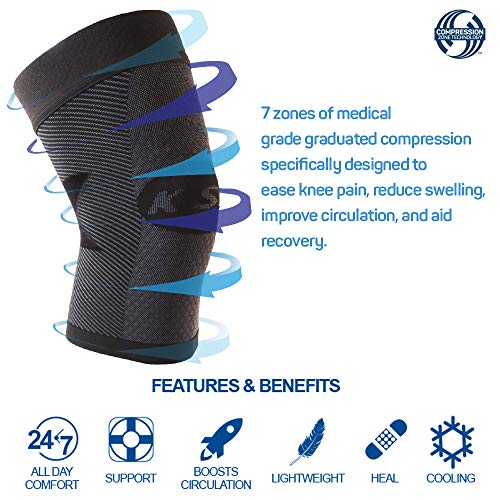 Ortho Sleeve Ks7 Compression Knee Sleeve For Knee Pain Relief, Aching Knees, Patellar Tendonitis And