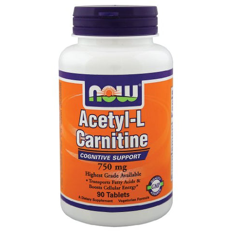 NOW Foods Acetyl-L-Carnitine -- 750 mg - 90 Tablets