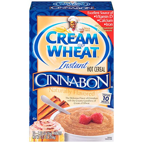 Cream of Wheat Instant Hot Cereal, Cinnabon, 1.23 Ounce, 10 Packets