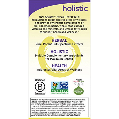 New Chapter Prostate Supplement - Prostate 5LX with Saw Palmetto + Selenium for Prostate Health - 60 ct Vegetarian Capsule