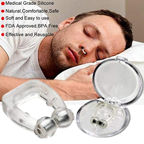 Snore Stopper Solution - Anti Snoring Nose Vents - Set of 2 Anti Snore Nose Clip- Natural Stop Snoring Devices - Reduce Snoring - Silicone Magnetic Anti Snore