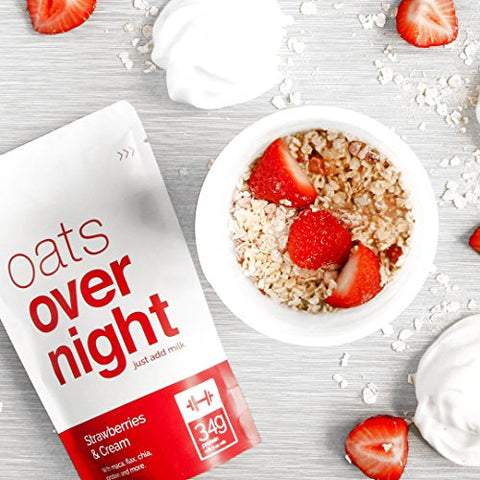 Oats Overnight Oatmeal   8 Pack X 2.7oz, 22g Protein   Variety Pack   100% Whole Grain, Rolled Oats,