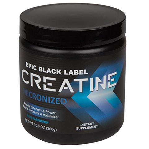 Epic Black Label Creatine Micronized (Blue Raspberry Flavor - 300 Grams)
