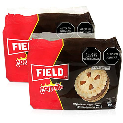 FIELD Coronita Galletas cin Crema Sabor Chocolate 228 grs. - 2 Pack. / Cookies Filled with Chocolate Cream 8.4 oz. - 2 Pack.