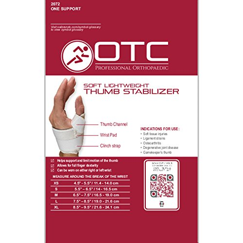 OTC Thumb Immobilizer, Soft Lightweight Duty, Medium (Left Hand)