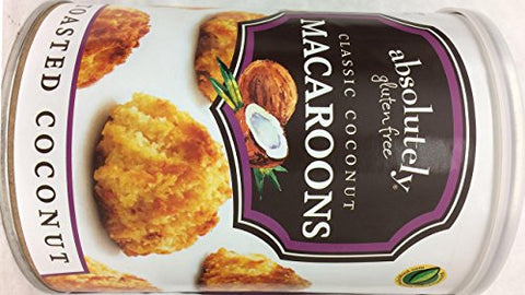 Absolutely Gluten Free Classic Toasted Coconut Macaroons Kosher For Passover 10 oz. (Pack Of 6)