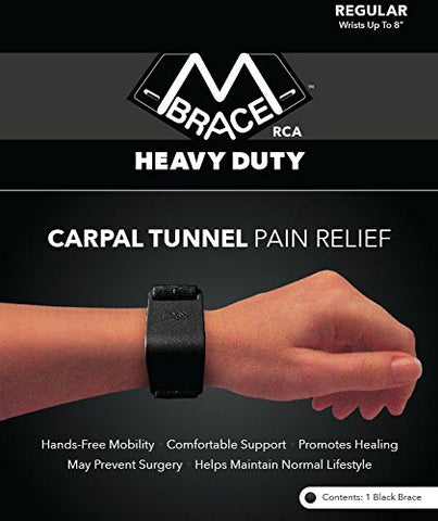 M BRACE RCA Carpal Tunnel Wrist Pain Relief (Regular, Black)