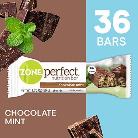 Zone Perfect Protein Bars, Chocolate Mint, 14g Of Protein, Nutrition Bars With Vitamins & Minerals, G