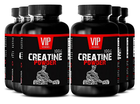 Creatine - CREATINE MONOHYDRATE Powder 100g - Helps Produce ATP (6 Bottles)