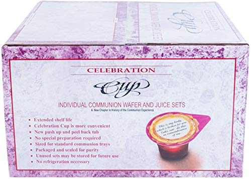 Celebration Cup 500 Prefilled Communion Cups with Juice and Wafer