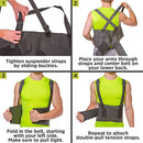 Image of BraceAbility Industrial Work Back Brace | Removable Suspender Straps for Heavy Lifting Safety - Lower Back Pain Protection Belt for Men & Women in Construction, Moving and Warehouse Jobs (Large)