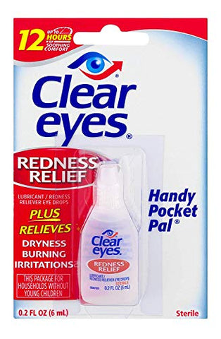 Clear Eyes Redness Relief Sterile Eye Drops - 0.2 Ozs