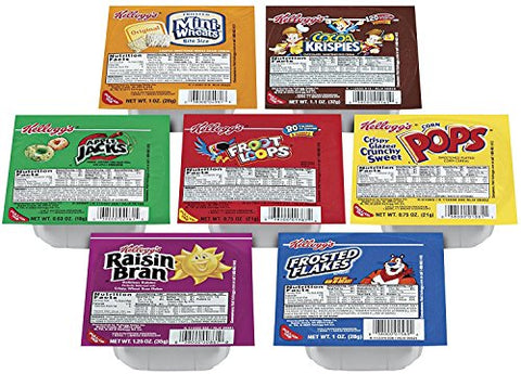 Kellogg's Portable Cereal Variety Pack - 9 Assorted Flavors Family Favorite Breakfast Cereals, 96 Count, Set