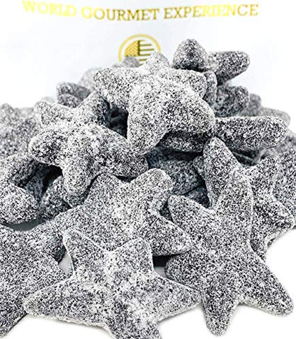SweetGourmet Extra Salty Starfish Licorice | Dutch Super Sea Salty Stars | 1 Pound