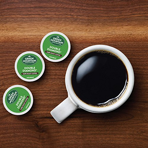 Green Mountain Coffee Roasters Double Diamond, Single Serve Keurig K Cup Pods, Dark Roast Coffee, 96