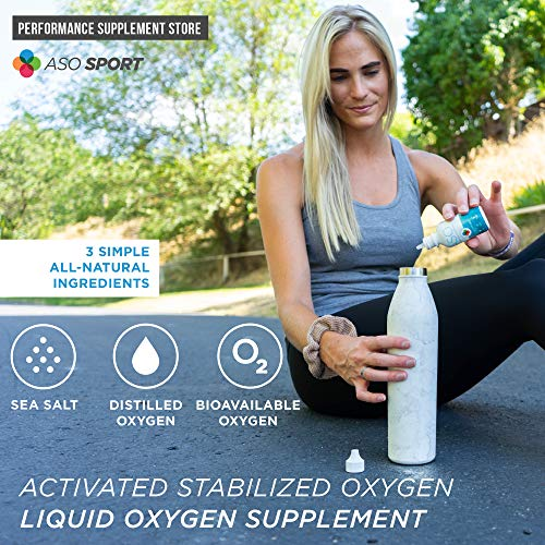 Aso 35% 350,000ppm Activated Stabilized Liquid Oxygen 2 Oz Bio Available Oxygen Enhanced Formula