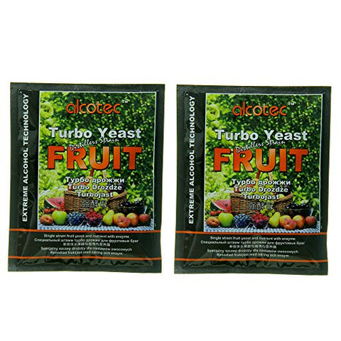 Alcotec Fruit Turbo Yeast Distiller's Strain (Pack of 2)