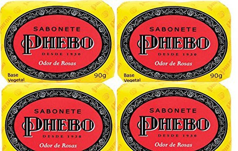 Phebo Body Soap - Odor of Roses - 3.1oz | Sabonete Barra Odor de Rosas Phebo - 90g by Phebo
