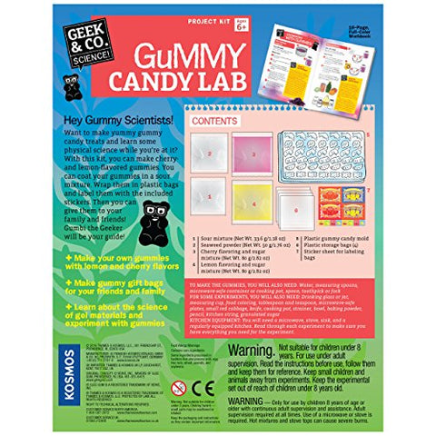 Thames & Kosmos Gummy Candy Lab - Bears, Fruit, Dolphins & Dinosaurs! Sweet Science STEM Experiment Kit, Make Your Own Gummy Candies in Cool Shapes & Colors | Learn Chemistry | New & Improved Formula