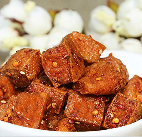 Qyz@ Chinese Hunan Special Delicious Snack Food Songguifang Spicy Tofu(150g3)