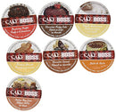 Image of 20 Cup Cake Boss FLAVORED ONLY Coffee Sampler! 7 New Delicious Flavors! NO DECAF! Chocolate Cannoli, Italian Rum Cake, Raspberry Truffle, Dulce De Leche (caramel) + So Delicious!