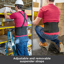 Image of BraceAbility Industrial Work Back Brace | Removable Suspender Straps for Heavy Lifting Safety - Lower Back Pain Protection Belt for Men & Women in Construction, Moving and Warehouse Jobs (2XL)