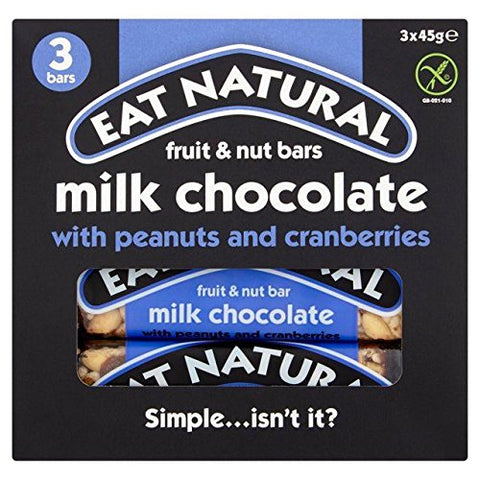 Eat Natural Peanuts & Cranberry Bars 3 x 45g