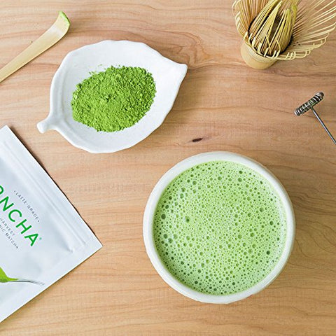 Encha Latte Grade First Harvest Organic Matcha (USDA Organic Certificate and Antioxidant Content Listed, Pure Matcha Green Tea Powder Directly from Farm in Uji, Japan, 60g/2.12oz Size)