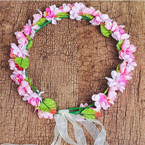 Forest & Rural Style Super Sweet Queen Princess Bridal Flower Garland Wreath Headband Crown Hair Decor