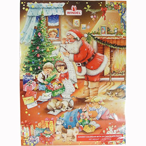 Santa's Gift list German Advent Calendar with Chocolate Gifts Inside