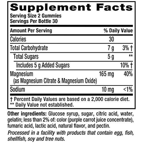 Vitafusion Magnesium Gummy Supplement, 60ct