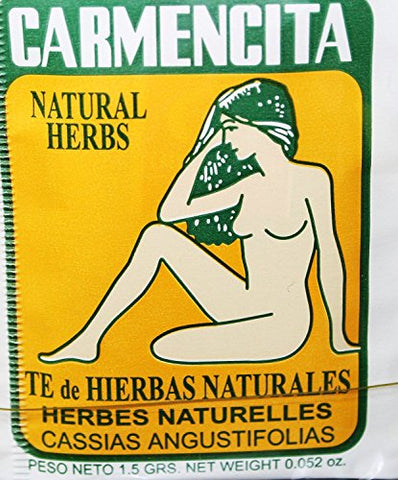 Carmencita Herbs Tea. Pack of 60 individual tea bags.