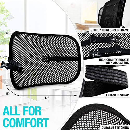 Seat Cushion Back Support Set   Lumbar Support Memory Foam With Orthopedic Design   Sciatica Pain Re