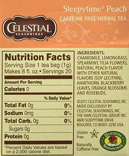 Celestial Seasonings Herbal Tea,Sleepytime Peach,(2 Pack)