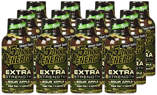 5 Hour Energyâ® Shot, Extra Strength, Sour Apple, 1.93 Oz., 12 Count