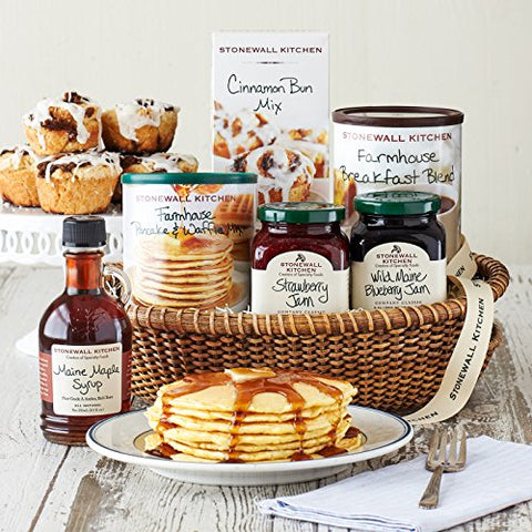 Stonewall Kitchen New England Breakfast Gift (6 Piece Gift Basket)