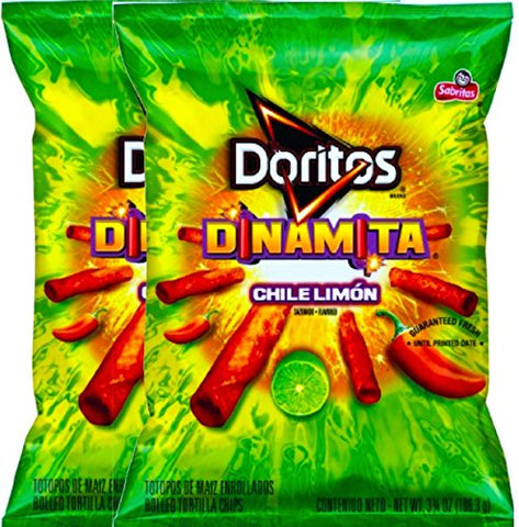NEW Doritos Dinamita Chile Limon Flavored Tortilla Chips 4.25 Oz (2)