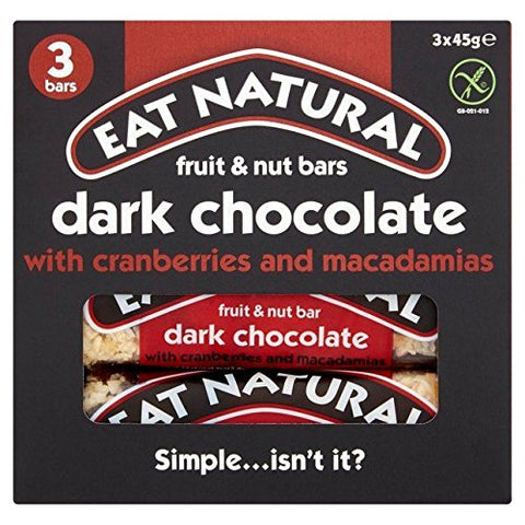 Eat Natural Bars with Cranberries & Macadamias - 3 x 45g