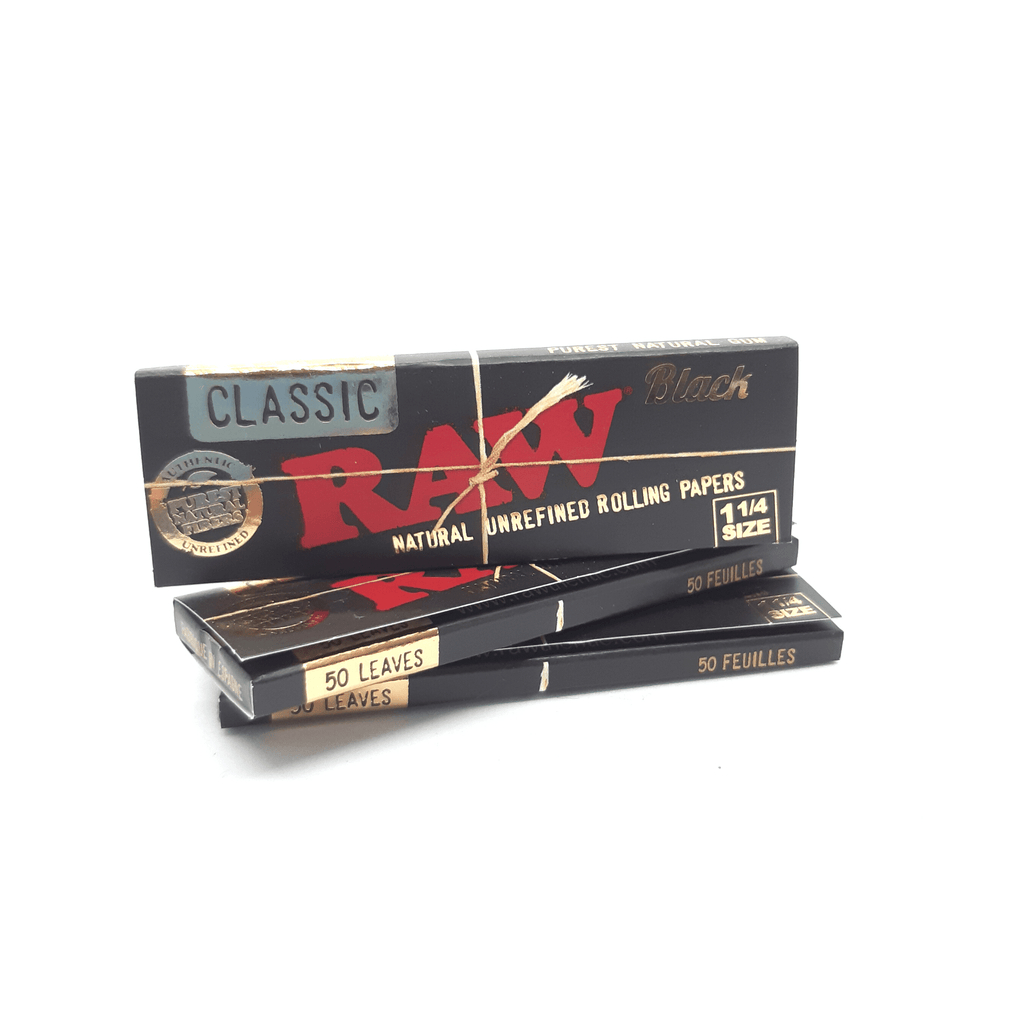 RAW Black Classic 1¼ - Hightitude CBD huile oil fleurs growshop